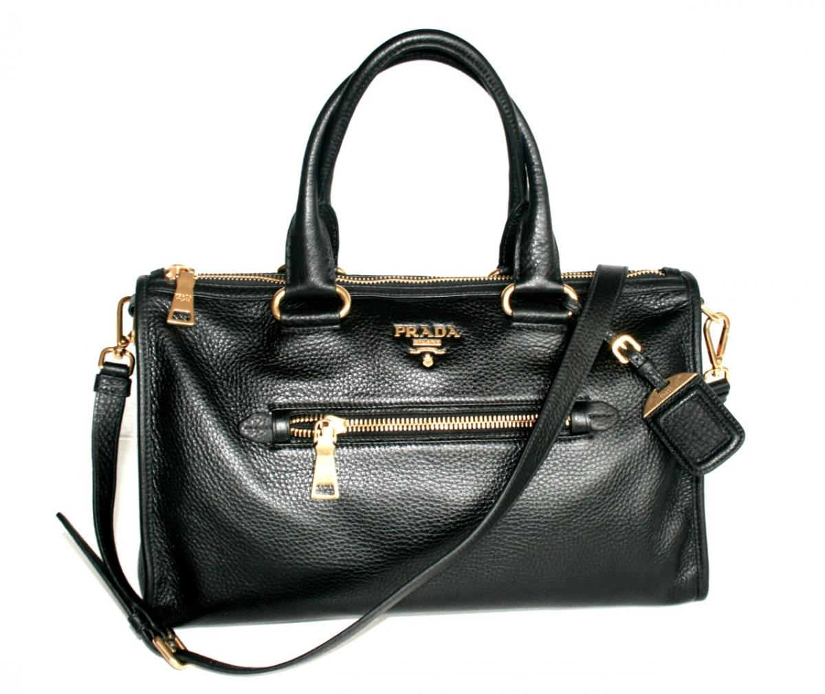 126830bd9bc326 AUTHENTIC LUXURY PRADA SHOULDER BAG HANDBAG BL0805 BLACK NEW | eBay