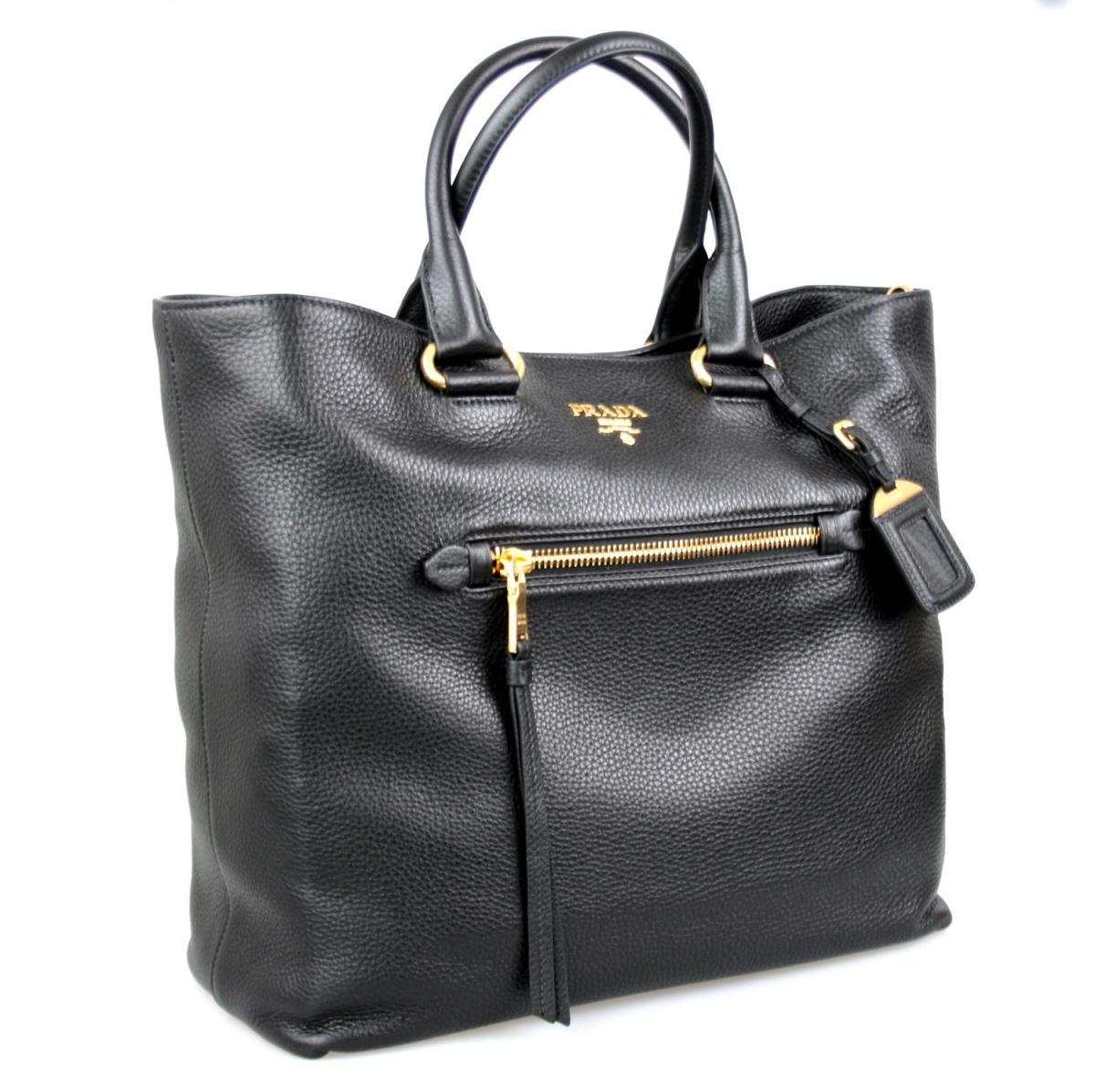 1c3e5e94b3f6e AUTHENTIC LUXURY PRADA BAG SHOPPER HANDBAG BN2754 BLACK NEW ...