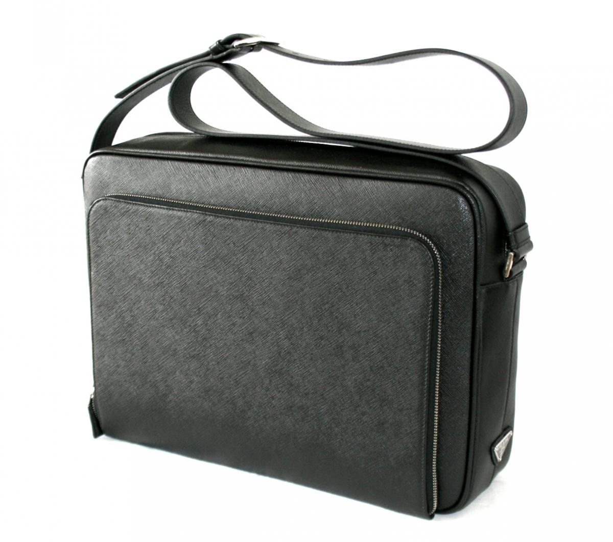 2e07d017c0db AUTHENTIC LUXURY PRADA SAFFIANO MESSENGER BAG VA0998 NEW .